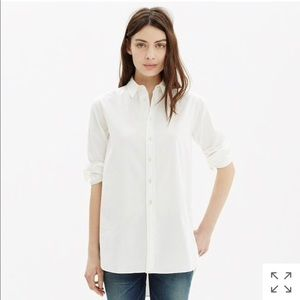 Madewell Oversized Side Button Down Shirt White